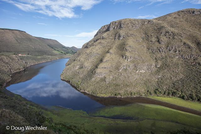 Laguna de Secas as seen from Tambo Condor